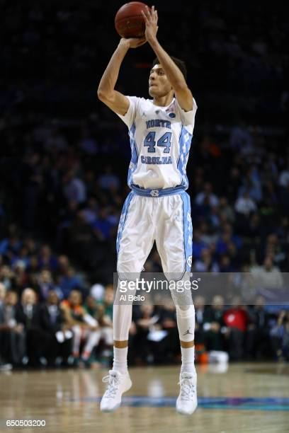 Justin Jackson of the North Carolina Tar Heels in action against Miami Hurricanes during the Quarterfinals of the ACC Basketball Tournament at the...