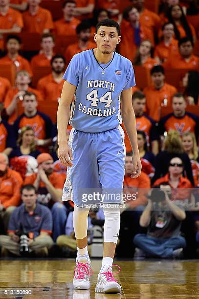Justin Jackson of the North Carolina Tar Heels in action in the first half during their game against the Virginia Cavaliers at John Paul Jones Arena...