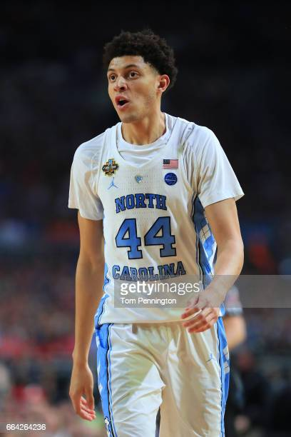 Justin Jackson of the North Carolina Tar Heels looks on against the Gonzaga Bulldogs during the 2017 NCAA Men's Final Four National Championship game...