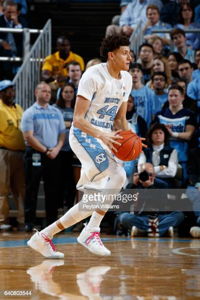 Justin Jackson of the North Carolina Tar Heels plays against the Virginia Tech Hokies on January 26 2017 at the Dean Smith Center in Chapel Hill...