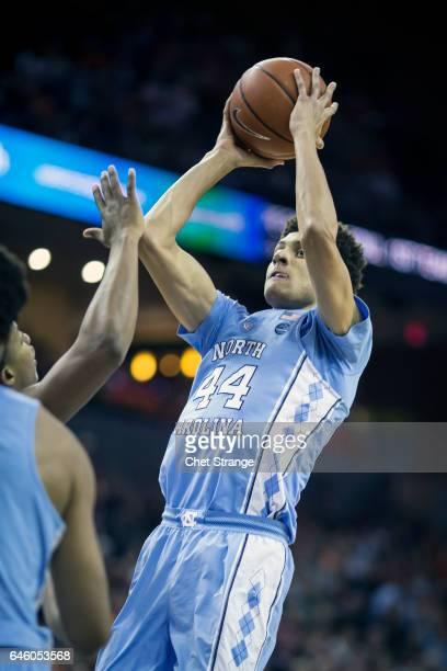 Justin Jackson of the North Carolina Tar Heels shoots the ball during North Carolina's game against the Virginia Cavaliers at John Paul Jones Arena...