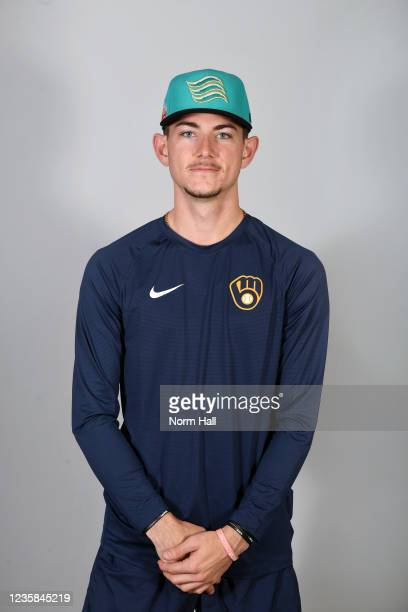 Justin Jarvis of the Salt Rive Rafters poses for a headshot during the 2021 Arizona Fall League Headshots at Salt River Fields at Talking Stick on...