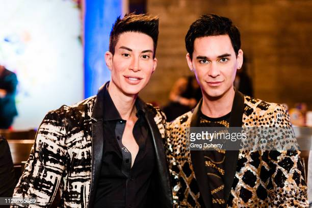 Justin Jedlica and Stephan Walden attend Sanctuary Fashion Week on March 7 2019 in Los Angeles California
