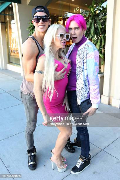 Justin Jedlica Angelique Morgan and Oli London are seen on December 19 2018 in Los Angeles CA