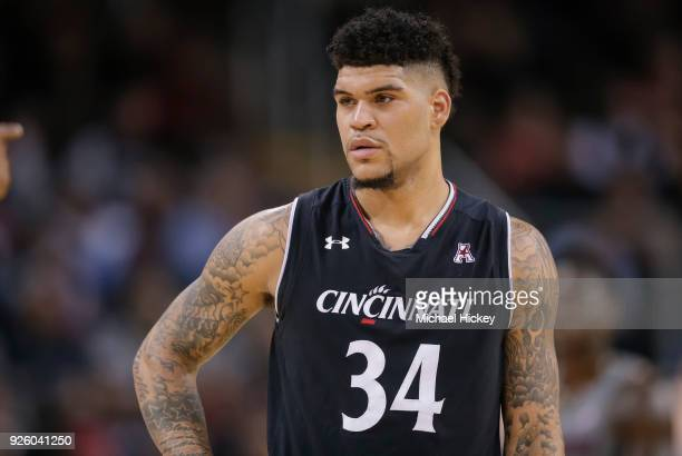 Justin Jenifer of the Cincinnati Bearcats is seen during the game against the Connecticut Huskies at BBT Arena on February 22 2018 in Highland...