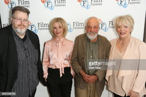 Justin Johnson Alison Steadman Jane Horrocks and Mike Leigh attend the 'Life Is Sweet' Bluray/ DVD launch and QA at BFI Southbank on September 28...