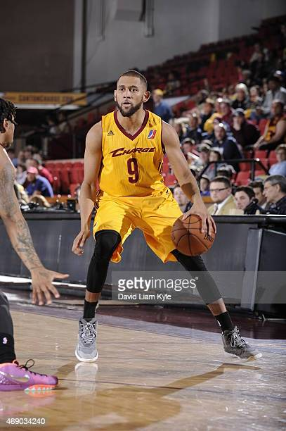 Justin Johnson of the Canton Charge handles the ball against the Sioux Falls Skyforce at the Canton Memorial Civic Center on April 8 2015 in Canton...