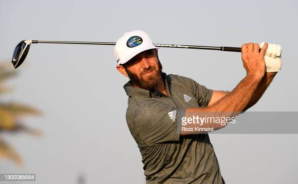 Justin Johnson of the USA in action during the pro-am event prior to the Saudi International powered by SoftBank Investment Advisers at Royal Greens...