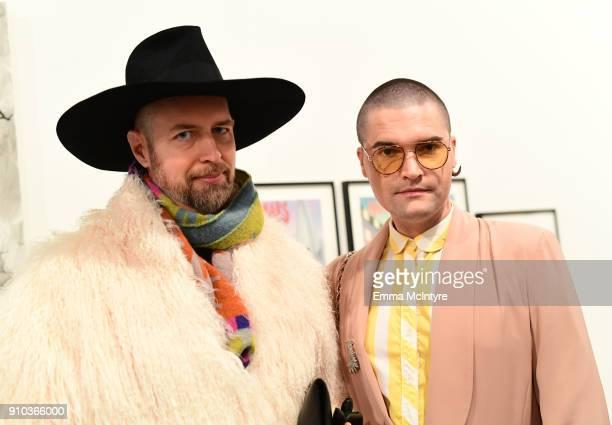 Justin Jorgensen and Franz Szony at OPENING NIGHT   ART LOS ANGELES CONTEMPORARY 9TH EDITION at Barkar Hangar on January 25 2018 in Santa Monica...