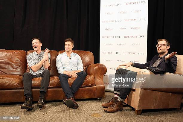 Justin Kelly and Charlie Carver speak at the ChefDance HuffPost Live Media Lounge on January 25 2015 in Park City Utah