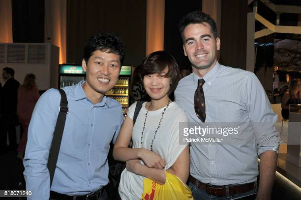 Justin Kim Hannah Yoo and Andrew Freesmeier attend LINCOLN CENTER Atmosphere Day 2 at Lincoln Center on September 10 2010 in New York City