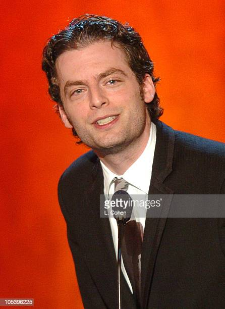 Justin Kirk accepts the award for Best Adapted Longform for Tony Kushner for Angels In America