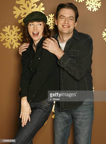 Justin Kirk and Julianne Nicholson during 2006 Sundance Film Festival 'Flannel Pajamas' Portraits at HP Portrait Studio in Park City Utah United...