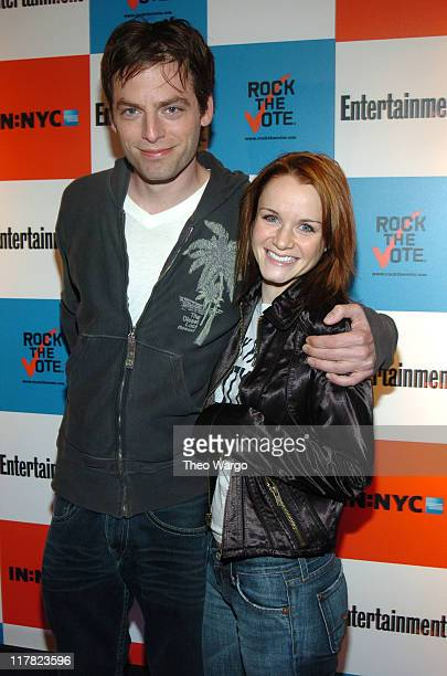 Justin Kirk and Kate Reinders during Listen2This Entertainment Weekly and Rock The Vote Host PreElection Bash at Ruby Falls in New York City New York...