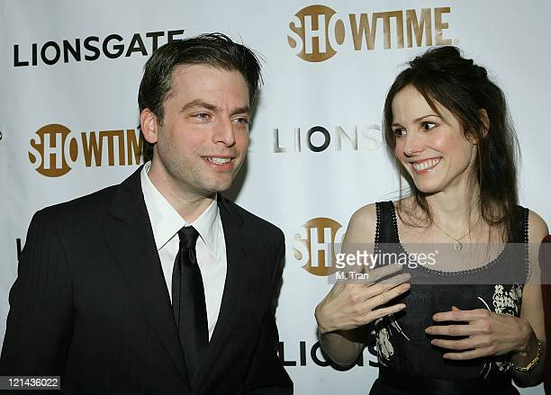 Justin Kirk and MaryLouise Parker during Showtime and Lionsgate PreGolden Globe Celebration at The Sunset Tower Hotel in West Hollywood California...