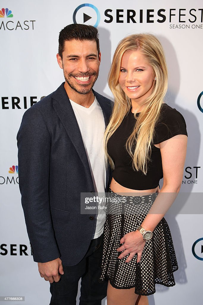 Justin Klosky and Crystal Hunt arrive during the opening night of SeriesFest at Red Rocks Amphitheatre on June 18, 2015 in Morrison, Colorado.