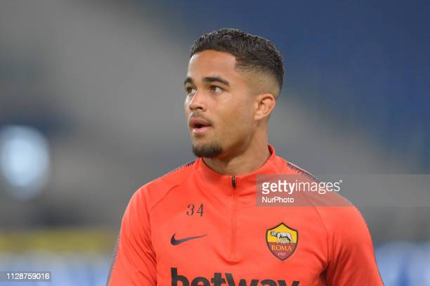 Justin Kluivert during the Italian Serie A football match between SS Lazio and AS Roma at the Olympic Stadium in Rome on march 02 2019