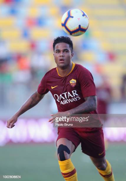 Justin Kluivert during the PreSeason Friendly match between AS Roma and Avellino at Stadio Benito Stirpe on July 20 2018 in Frosinone Italy