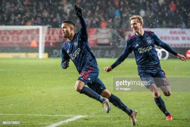 Justin Kluivert of Ajax during the Dutch Eredivisie match between FC Twente Enschede and Ajax Amsterdam at the Grolsch Veste on December 02 2017 in...