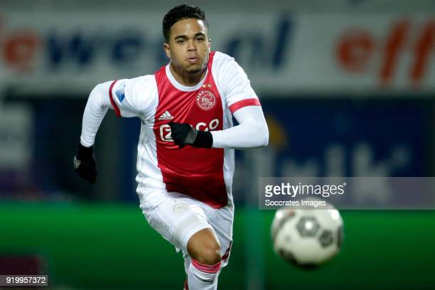 Justin Kluivert of Ajax during the Dutch Eredivisie match between PEC Zwolle v Ajax at the MAC3PARK Stadium on February 18 2018 in Zwolle Netherlands