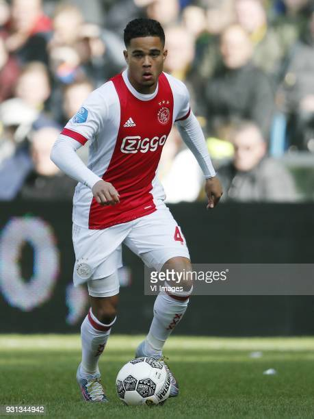 Justin Kluivert of Ajax during the Dutch Eredivisie match between Vitesse Arnhem and Ajax Amsterdam at Gelredome on March 04 2018 in Arnhem The...