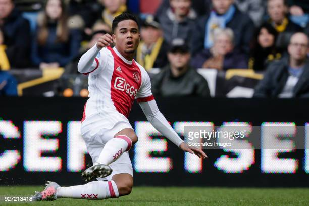 Justin Kluivert of Ajax during the Dutch Eredivisie match between Vitesse v Ajax at the GelreDome on March 4 2018 in Arnhem Netherlands
