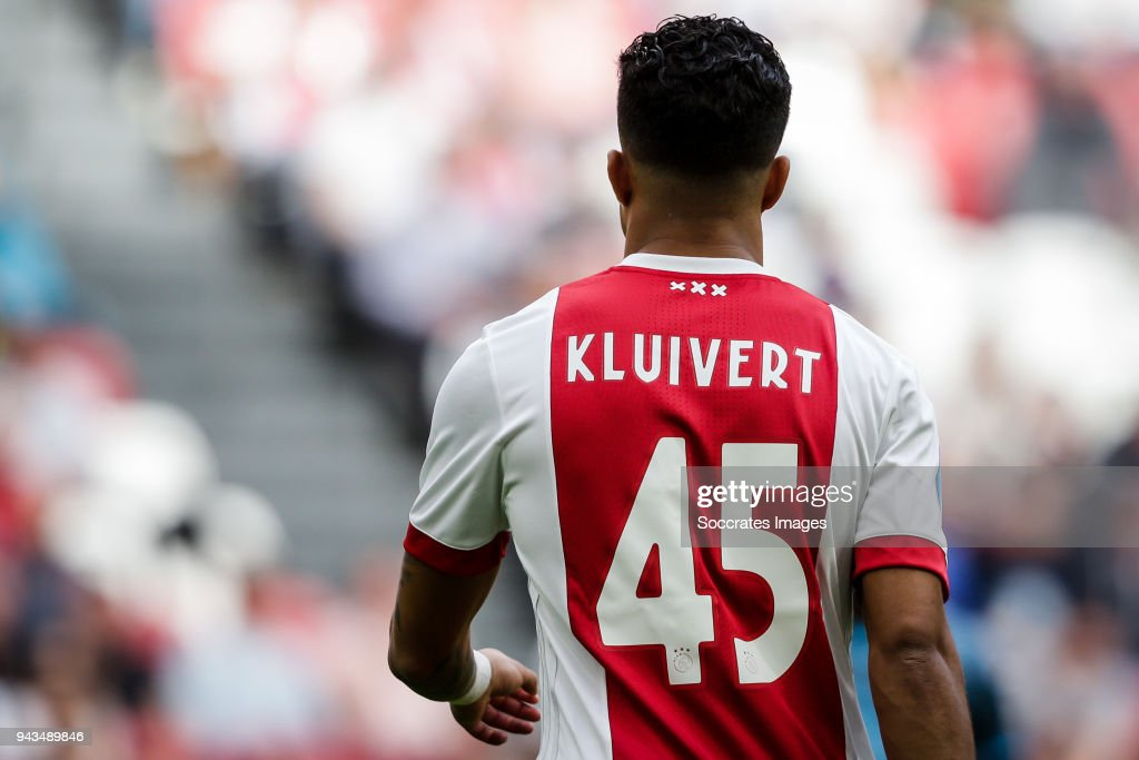 Justin Kluivert of Ajax during the Dutch Eredivisie match between Ajax v Heracles Almelo at the Johan Cruijff Arena on April 8, 2018 in Amsterdam Netherlands