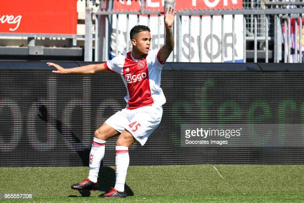Justin Kluivert of Ajax during the Dutch Eredivisie match between Excelsior v Ajax at the Van Donge De Roo Stadium on May 6 2018 in Rotterdam...