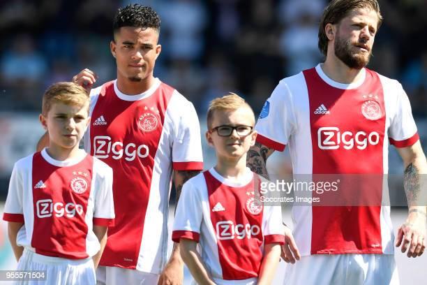 Justin Kluivert of Ajax Lasse Schone of Ajax during the Dutch Eredivisie match between Excelsior v Ajax at the Van Donge De Roo Stadium on May 6 2018...
