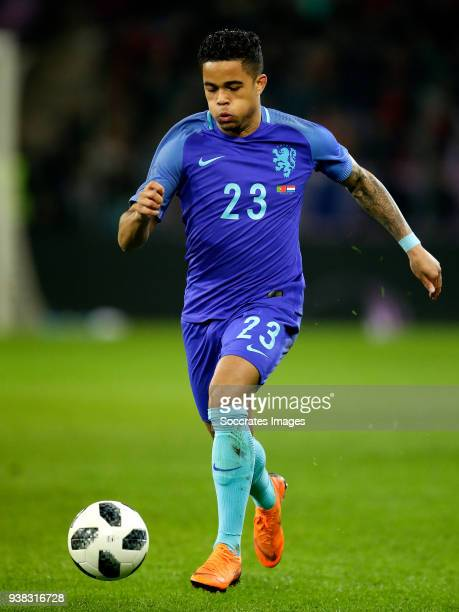 Justin Kluivert of Holland during the International Friendly match between Portugal v Holland at the Stade de Geneve on March 26 2018 in Geneve...