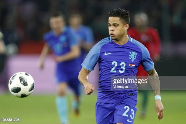 Justin Kluivert of Holland during the International friendly match match between Portugal and The Netherlands at Stade de Genève on March 26 2018 in...