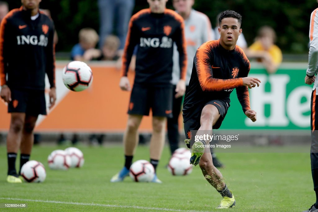 Justin Kluivert of Holland during the Training Holland at the KNVB Campus on September 3, 2018 in Zeist Netherlands