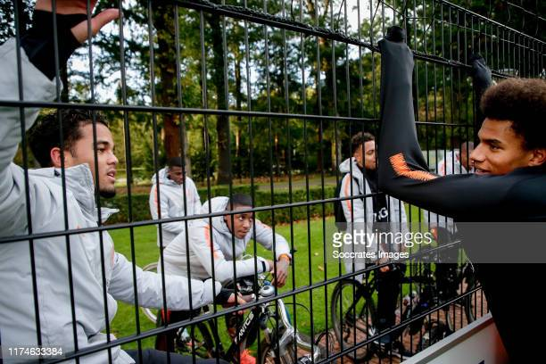 Justin Kluivert of Holland U21 Calvin Stengs of Holland U21 during the U21 MenTraining Holland U21 at the KNVB Campus on October 8 2019 in Zeist...