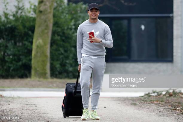 Justin Kluivert of Holland U21 during the Arrival Holland U21 at the KNVB campus at the KNVB Campus on February 19 2018 in Zeist Netherlands