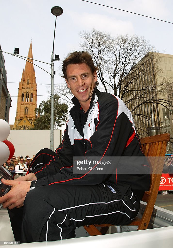 Justin Koschitzke of the Saints is seen during the AFL Grand Final Parade on Swanston Street on September 24, 2010 in Melbourne, Australia.