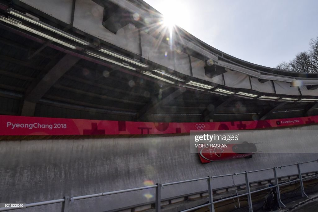TOPSHOT-BOBSLEIGH-OLY-2018-PYEONGCHANG-TRAINING : News Photo