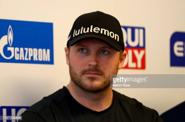 Justin Kripps of Canada speaks to the media during an international press conference for the BMW IBSF World Championships Altenberg 2020 on February...