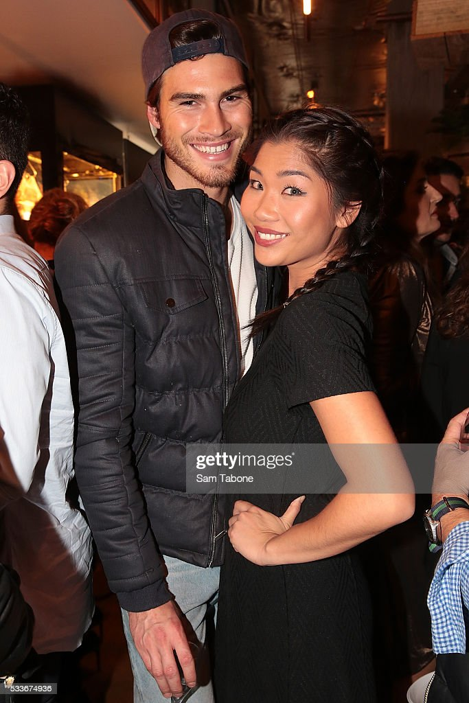 Justin Lacko and Lee Chan attend the Eat'aliano by Pino Italian Feast launch on May 23, 2016 in Melbourne, Australia.