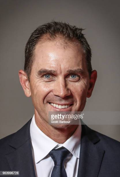 Justin Langer coach of Australia poses for a portrait after a press conference on May 3 2018 in Melbourne Australia Langer has been appointed the...