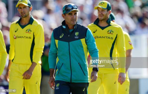 Justin Langer of Australia after England won the fifth Royal London OneDay International match between England and Australia at Emirates Old Trafford...
