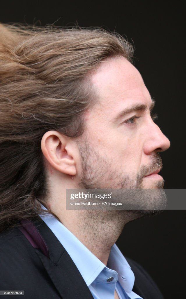 Justin Lee Collins, arrives at St Albans Crown Court in St