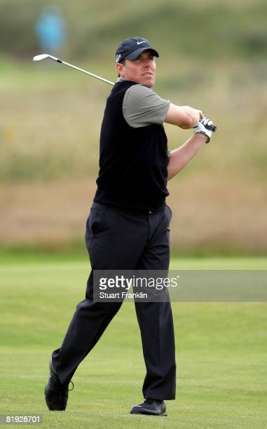 Justin Leonard of the USA during the first practice round of the 137th Open Championship on July 14 2008 at Royal Birkdale Golf Course England