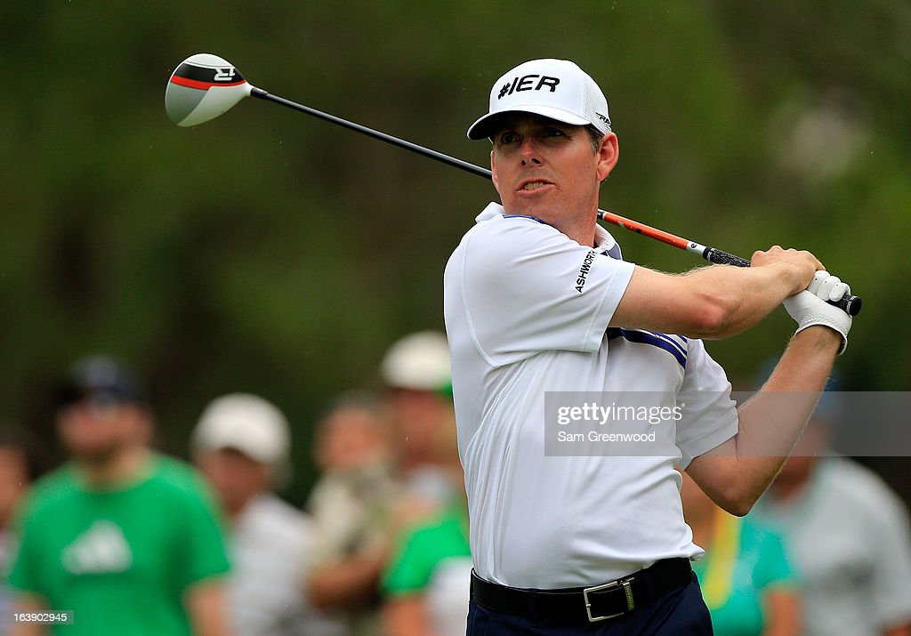 Justin Leonard plays a shot on the 14th hole during the final round of the Tampa Bay Championship at the Innisbrook Resort and Golf Club on March 17, 2013 in Palm Harbor, Florida.