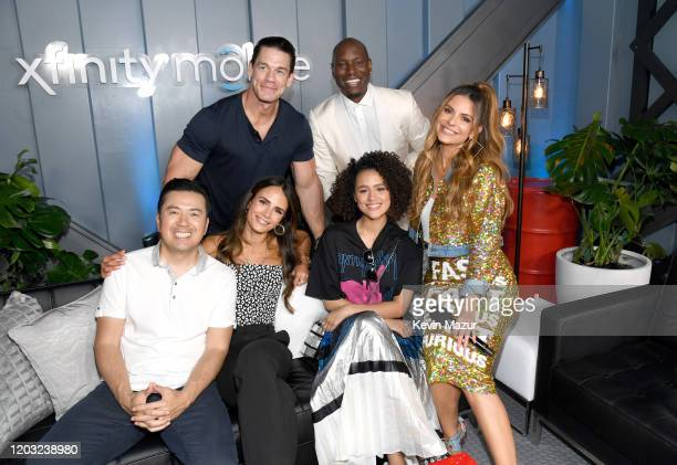 Justin Lin John Cena Jordana Brewster Tyrese Gibson Nathalie Emmanuel and Maria Menounos attend Universal Pictures Presents The Road To F9 Concert...