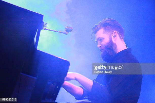 Justin Lockey of Editors performs at Electric Picnic Festival at Stradbally Hall Estate on September 4 2016 in Laois Ireland