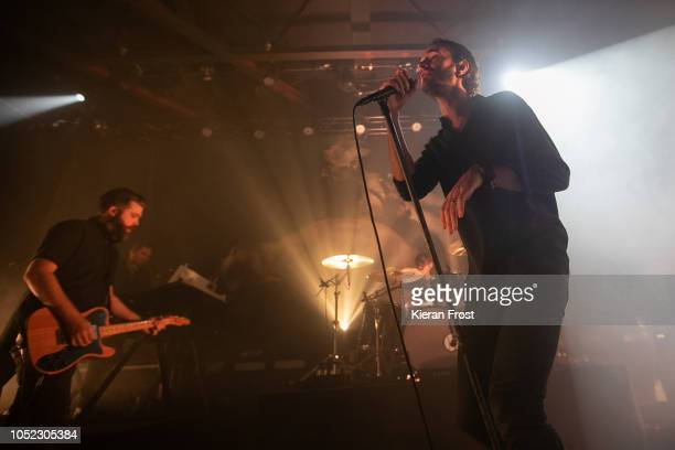 Justin Lockley and Tom Smith of Editors perform at Vicar Street on October 16 2018 in Dublin Ireland