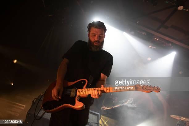 Justin Lockley of Editors perform at Vicar Street on October 16 2018 in Dublin Ireland