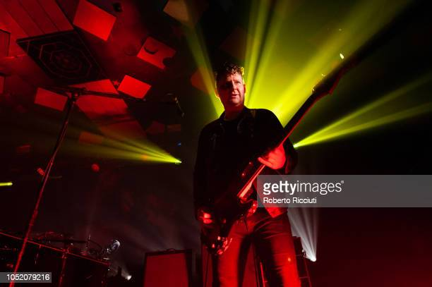 Justin Lockley of Editors performs on stage at Barrowlands Ballroom on October 13 2018 in Glasgow Scotland