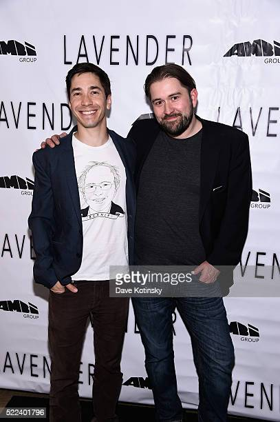 Justin Long and Ed GassDonnelly attend the LAVENDER Afterparty at Tribeca Film Festival 2016 on April 18 2016 in New York City