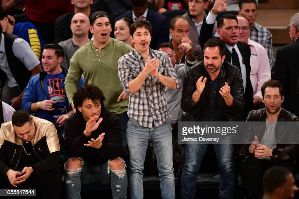 Justin Long attends the Indiana Pacers vs New York Knicks game at Madison Square Garden on October 31, 2018 in New York City.